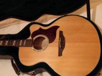 Takamine EG523SC acoustic/electric guitar. Jumbo body