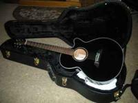 Acoustic/electric guitar EG561C Black with opal ring,