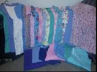 I have 16 scrub tops and 7 bottoms they are size medium
