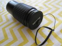 This is a used Takumar-A telephoto zoom lens in