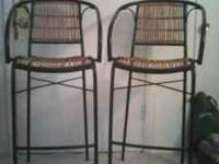 $30 for both obo Two tall bar type chairs, awesome