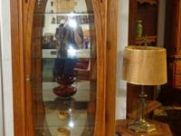 EXTREMELY NICE Tall Curio w / Lion Face! Beautiful
