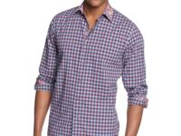 Allover checks cover this button front shirt from