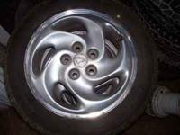 Set of 4 wheels off of 95 Eagle Talon. Tires are no