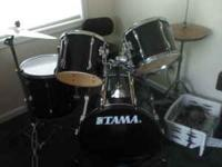 "Tama Rockstar 5 peice drum set with Zildian ZBT 14"" hi"