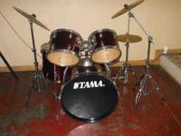 1- Bass Drum 2- Bass Tom-Toms 1- Floor Tom 1- Snare