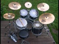 "* Tama rock star drum set. 10"" 12"" 14""toms, 22x18 bass"