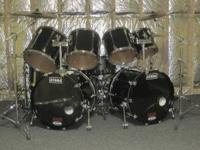 9 piece TAMA GRANSTAR double bass kit with joey
