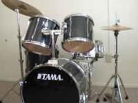 TAMA ROCKSTAR 80's Japan Drum Set 5pc.Dark Blue. W/ all