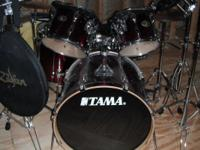 Tama Rockstar, 5pcs Drums plus percussion items. Drums