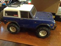 I have 3 Tamiya cars available. A 4WD Bronco (CR01) in