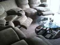 Tan/Beige colored sectional couch for sale. Purchased