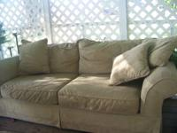 This couch is in good condition - no rips or worn