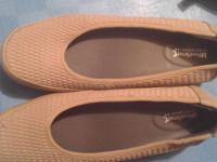 Lightly used tan colored shoes. Made by Footsmart. VERY