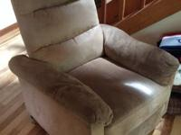 "Tan recliners, 30"" x 30"", perfect for smaller size"