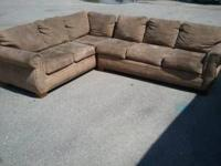 This is an older sectional that has been in storage for