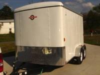 7x12 Tandem Axel Trailer. New Enclosed Cargo Trailer