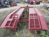 tandem axle equipment car hauler trailer. No ramps and