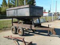 TANDEM AXLE GRAVITY BOX TRAILER.VERY GOOD