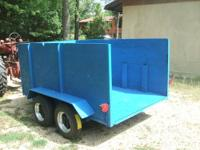 Easy pulling heavy duty tandem trailer as pictured