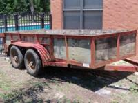 Tandem axle trailer for sale - Available May 15th.