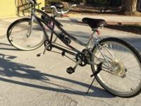 Tandem bicycle fore two. Like new best offer accepted.