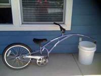 Child size tandem bike attaches to ANY adult bike. It