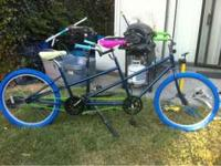 For sale I have a tandem bike with new grips, seats,