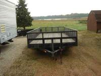 "16' X 6'4"" TANDEM TRAILER WITH 2' WIRE MESH SIDES AND"