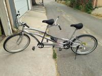 This is a great tandem for around town with a friend or