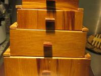 I am offering a Tansu design box that was made in a