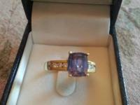 Tanzanite and Diamond Ring Original price $3,500 - Size