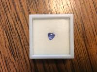 Beautiful blue .87ct. trillion cut loose tanzanite.