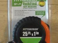 25 FT. X 1 Inch Tape Measure (New) - $ 4 6 - Piece