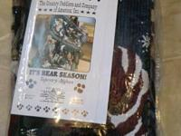 "Bear design Tapestry Afghan 48""60"" washable New.  For"