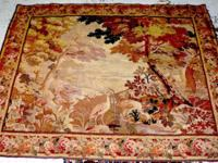 Tapestry - Antique, French or Belgium, Hand-woven -