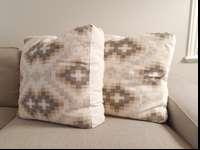 I have two great looking 26x26 Aztec pattern pillows