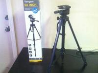 Barely used black plastic tripod, in very good