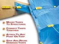 EZ Grabbit Tarp Tie Downs are ideal for tarp management