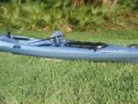 Tarpon 160 Angler kayak with Rudder  Excellent