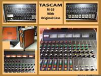 TASCAM M35 Recording Mixer ~ 100lbs. Comes with