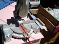 Task Force 10 inch Compound Miter Saw. Excellent