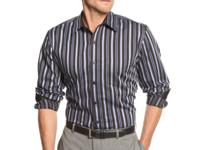 Tasso Elba designed this striped big and tall shirt to