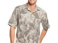 This island-themed printed silk-blend shirt by Tasso