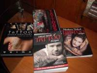4 TATTOO BOOKS AND 10 MAGAZINES LOTS OF GREAT TATTOO