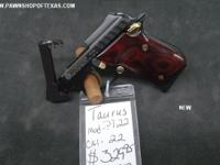 TAURUS PT-22 380 WAS $329.95 NOW $299.95. B7478A-WOOD