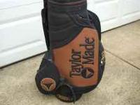 TAYLOR MADE GOLF BAG, EXCELLENT CONDITION WITH PLENTY