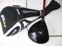 As new Taylor Made R9 men's driver. Motore Fujkura