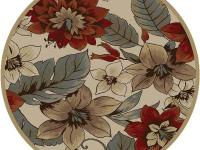 The Impressions Beige 5 ft. 3 in. Round Transitional