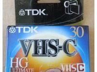 BRAND NEW TDK VHS-C 30 HG Ultimate Video Cassette Tape